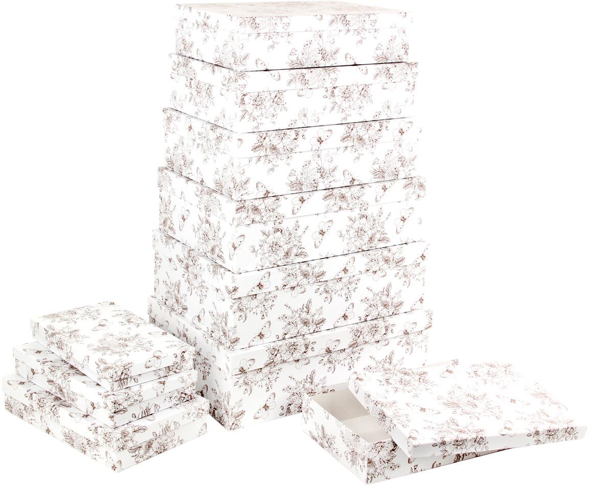 Набор подарочных коробок Veld-Co Мадам Баттерфляй, 10 шт57568Подарочные коробки Veld-Co - это наилучшее решение, если выхотите порадовать ваших близких и создать праздничное настроение, ведь подарок, преподнесенный в оригинальной упаковке, всегда будет самым эффектным и запоминающимся. Окружите близких людей вниманием и заботой, вручив презент в нарядном, праздничном оформлении.