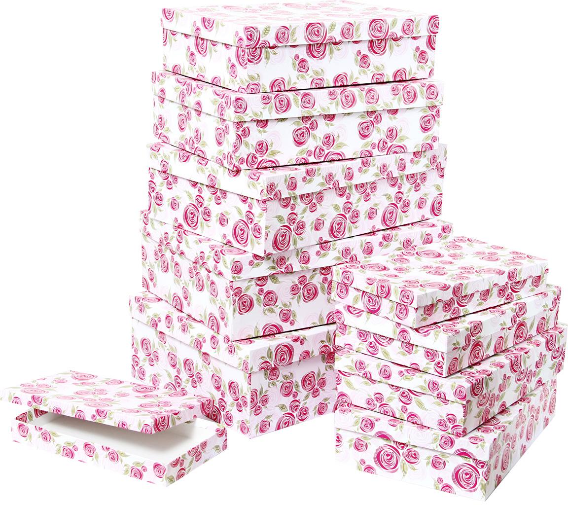 Набор подарочных коробок Veld-Co Розовая графика, 10 шт57570Подарочные коробки Veld-Co - это наилучшее решение, если выхотите порадовать ваших близких и создать праздничное настроение, ведь подарок, преподнесенный в оригинальной упаковке, всегда будет самым эффектным и запоминающимся. Окружите близких людей вниманием и заботой, вручив презент в нарядном, праздничном оформлении.