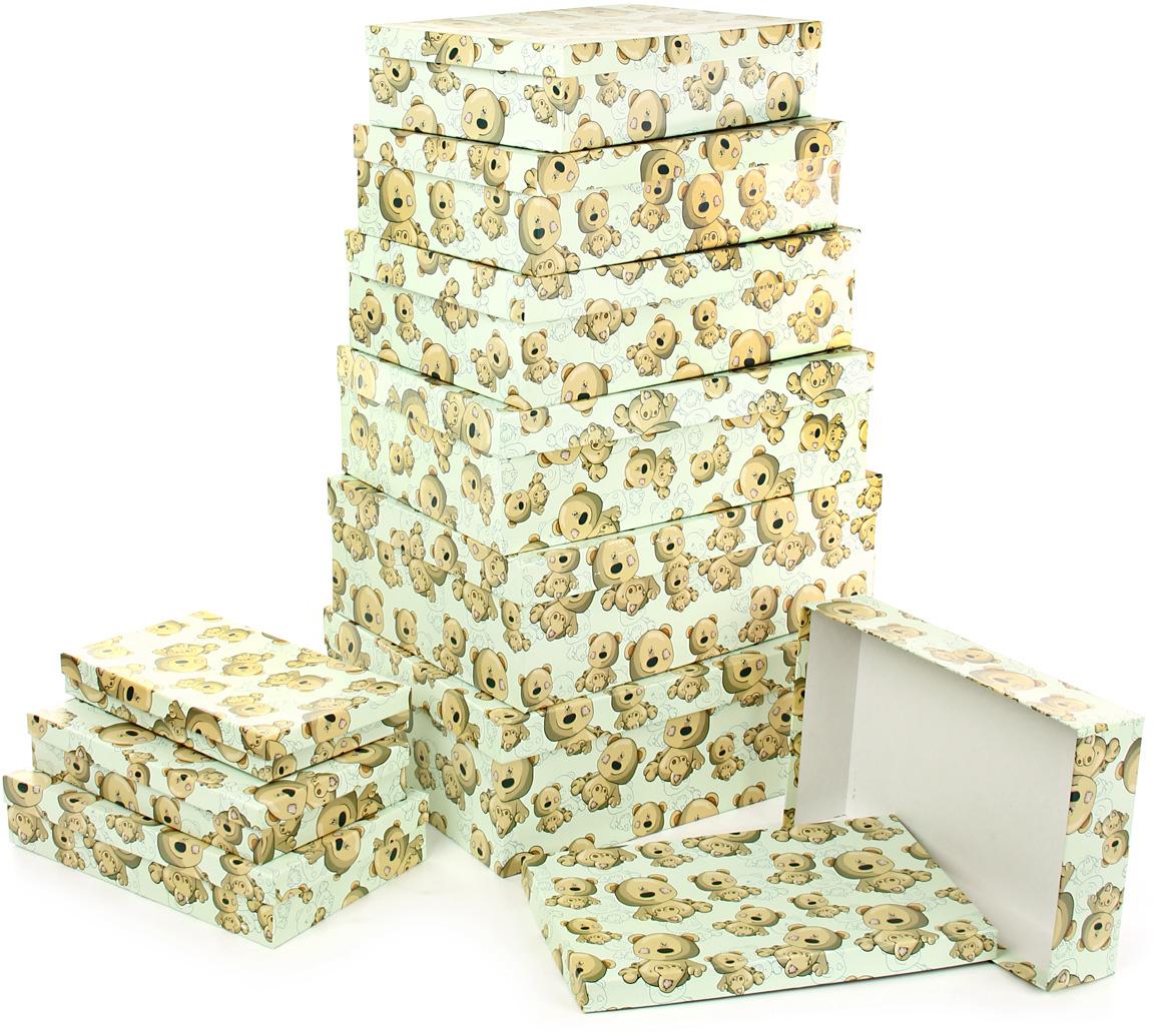 Набор подарочных коробок Veld-Co Плюшевый улыбака, 10 шт аксессуары veld co набор переводных татуировок черепа