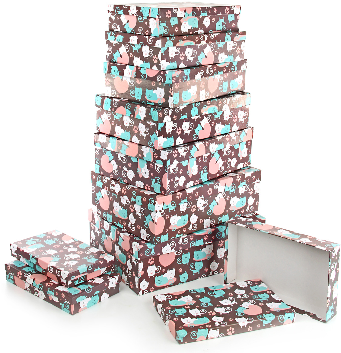 Набор подарочных коробок Veld-Co Усы, лапы и хвост, 10 шт набор подарочных коробок veld co чайные розы 10 шт