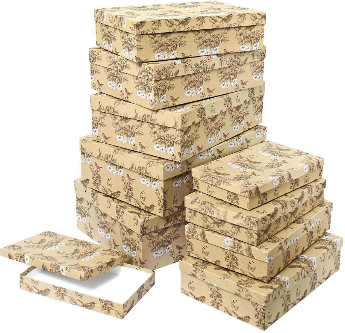 Набор подарочных коробок Veld-Co Гимн весне, 10 шт набор подарочных коробок veld co гимн весне круглые высокие 3 шт