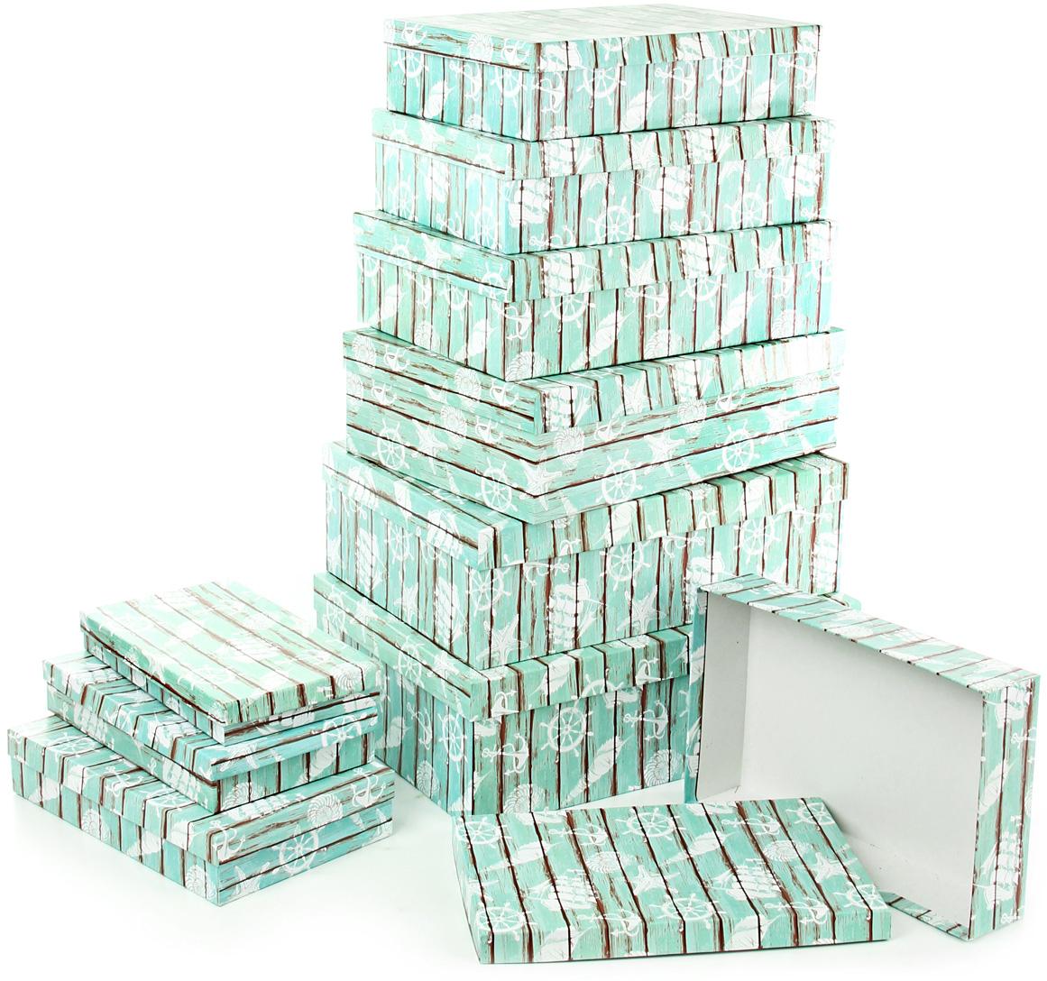 Набор подарочных коробок Veld-Co Грезы путешественника, 10 шт57581Подарочные коробки Veld-Co - это наилучшее решение, если выхотите порадовать ваших близких и создать праздничное настроение, ведь подарок, преподнесенный в оригинальной упаковке, всегда будет самым эффектным и запоминающимся. Окружите близких людей вниманием и заботой, вручив презент в нарядном, праздничном оформлении.
