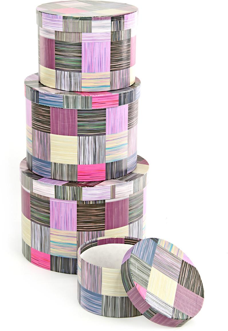 Набор подарочных коробок Veld-Co Сиреневое сияние, круглые, 4 шт. 57582 набор подарочных коробок veld co небесные музыканты круглые 4 шт