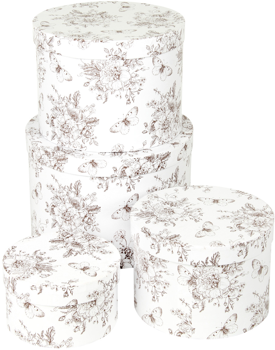 Набор подарочных коробок Veld-Co Мадам Баттерфляй, круглые, 4 шт. 57584 набор подарочных коробок veld co небесные музыканты круглые 4 шт