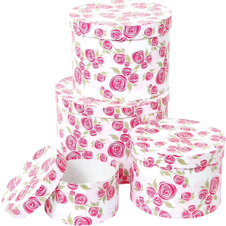 Набор подарочных коробок Veld-Co Розовая графика, круглые, 4 шт. 67684 набор подарочных коробок veld co цветочная абстракция кубы 3 шт 53452