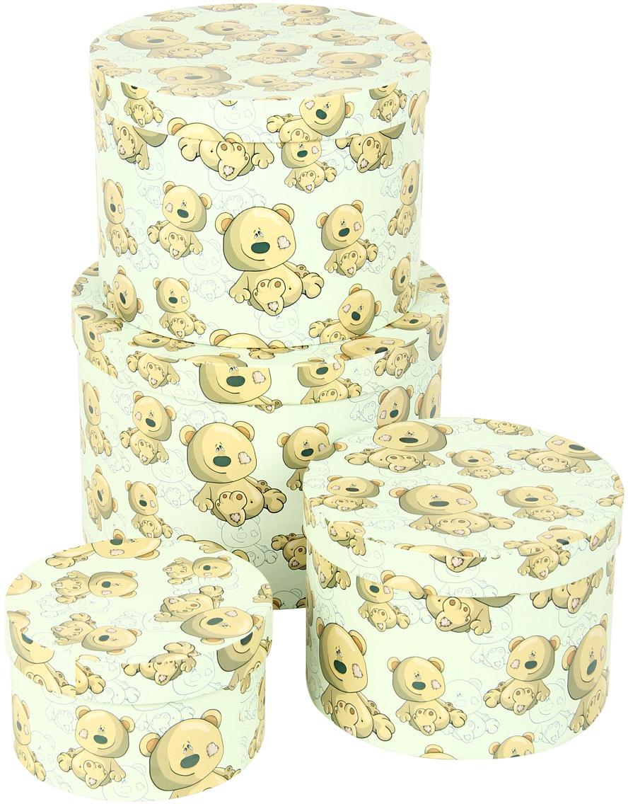 Набор подарочных коробок Veld-Co Плюшевый улыбака, круглые, 4 шт. 57586 набор подарочных коробок veld co небесные музыканты круглые 4 шт