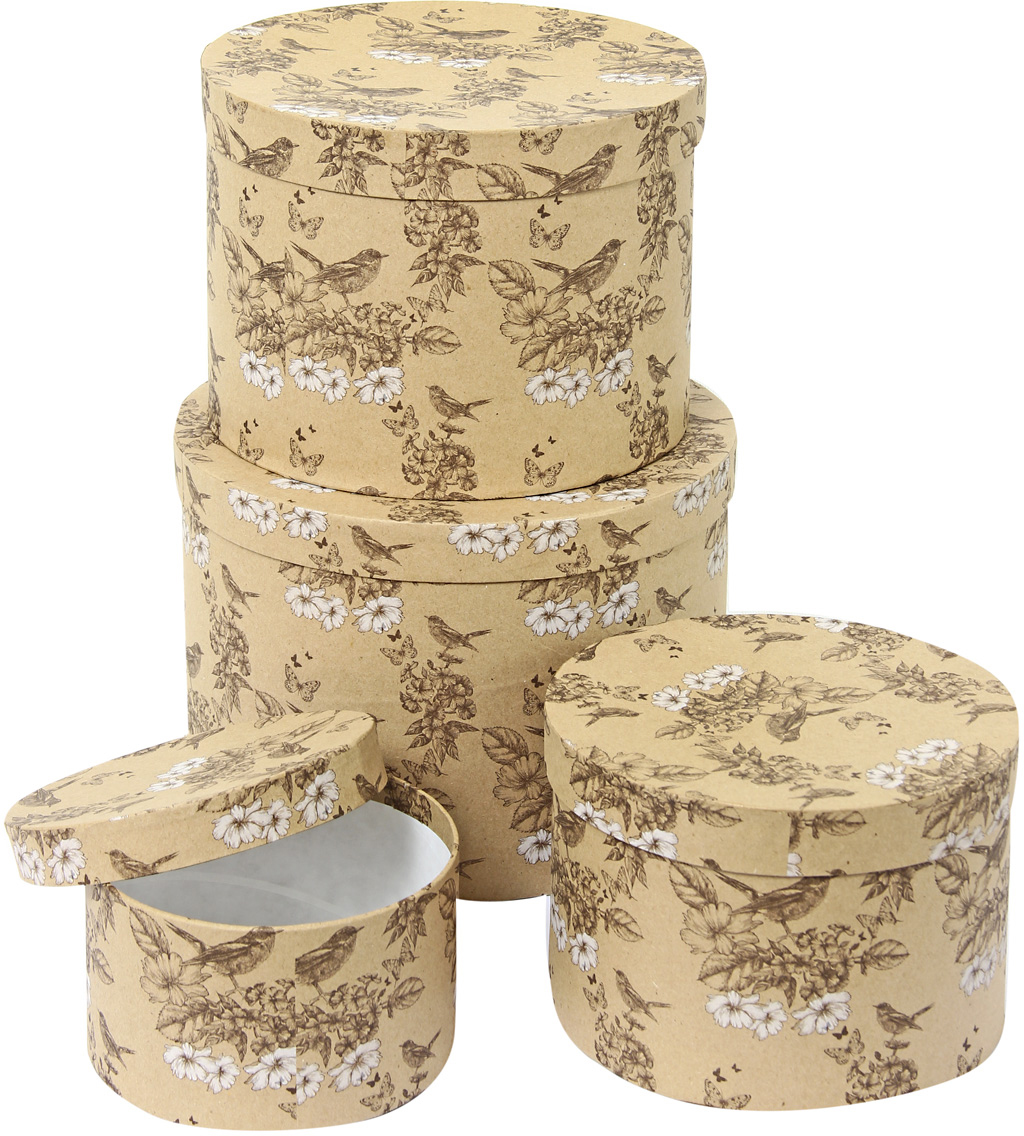 Набор подарочных коробок Veld-Co Гимн весне, 4 шт набор упаковочных бантиков veld co 1 4 х 25 см 10 шт