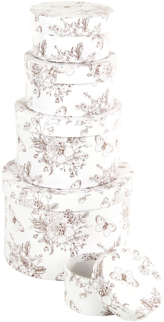 Набор подарочных коробок Veld-Co Мадам Баттерфляй, круглые, 5 шт. 57593 аксессуары veld co набор переводных татуировок черепа