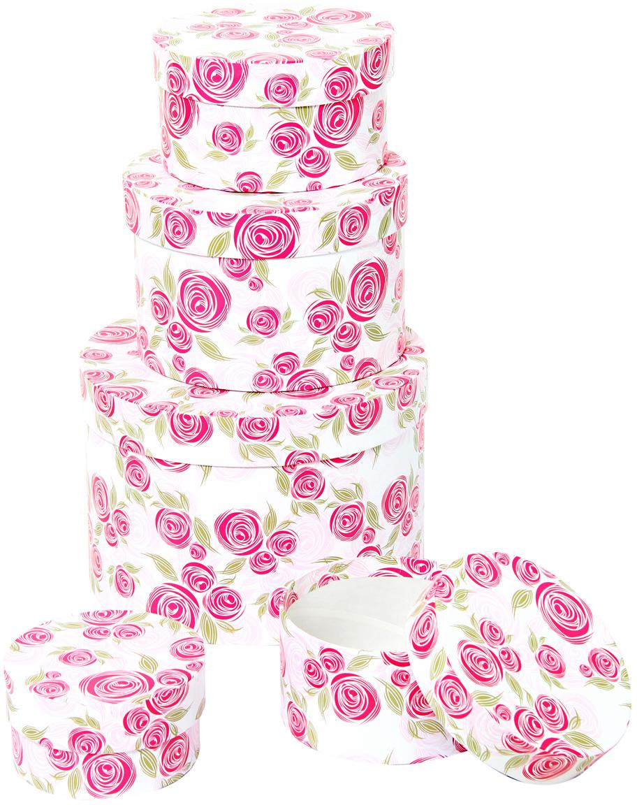 Набор подарочных коробок Veld-Co Розовая графика, круглые, 5 шт набор подарочных коробок veld co грезы путешественника 11 шт