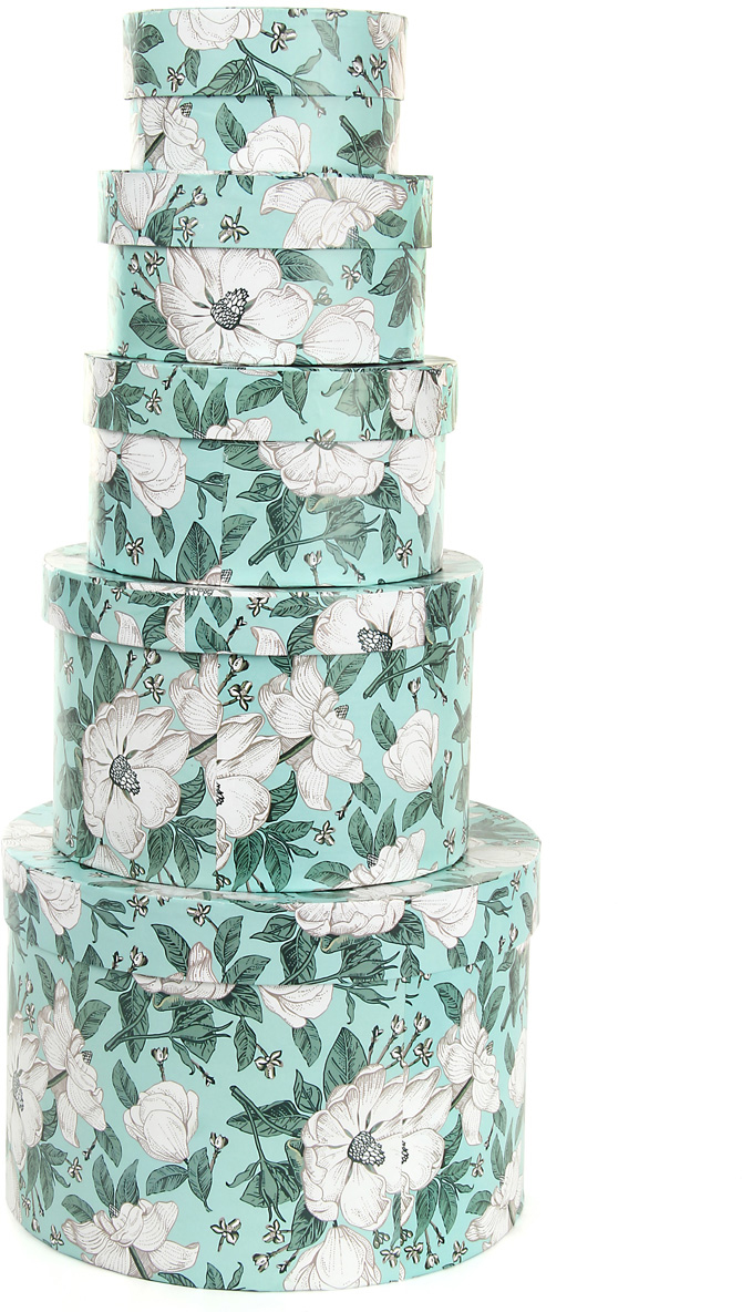 Набор подарочных коробок Veld-Co Анаис, круглые, 5 шт. 57597 набор подарочных коробок veld co цветочная абстракция кубы 3 шт 53452