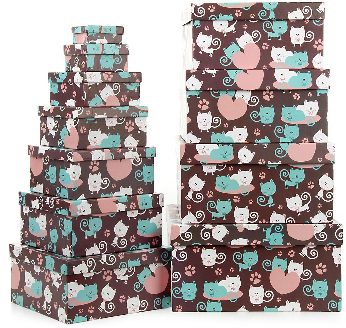 Набор подарочных коробок Veld-Co Усы, лапы и хвост, 11 шт57624Подарочные коробки Veld-Co - это наилучшее решение, если выхотите порадовать ваших близких и создать праздничное настроение, ведь подарок, преподнесенный в оригинальной упаковке, всегда будет самым эффектным и запоминающимся. Окружите близких людей вниманием и заботой, вручив презент в нарядном, праздничном оформлении.