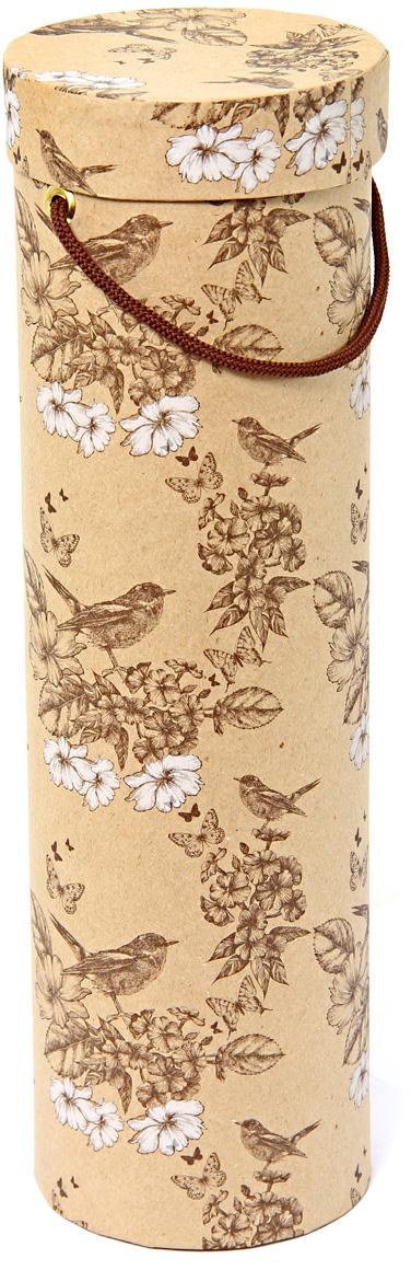Тубус упаковочный Veld-Co  Гимн весне, под бутылку, цвет: светло-коричневый, 9,2 х 9,2 х 32 см57631Любой подарок начинается с упаковки. Что может быть трогательнее и волшебнее, чем ритуал разворачивания полученного презента. И именно оригинальная, со вкусом выбранная упаковка выделит ваш подарок из массы других. Она продемонстрирует самые теплые чувства к виновнику торжества и создаст сказочную атмосферу праздника.