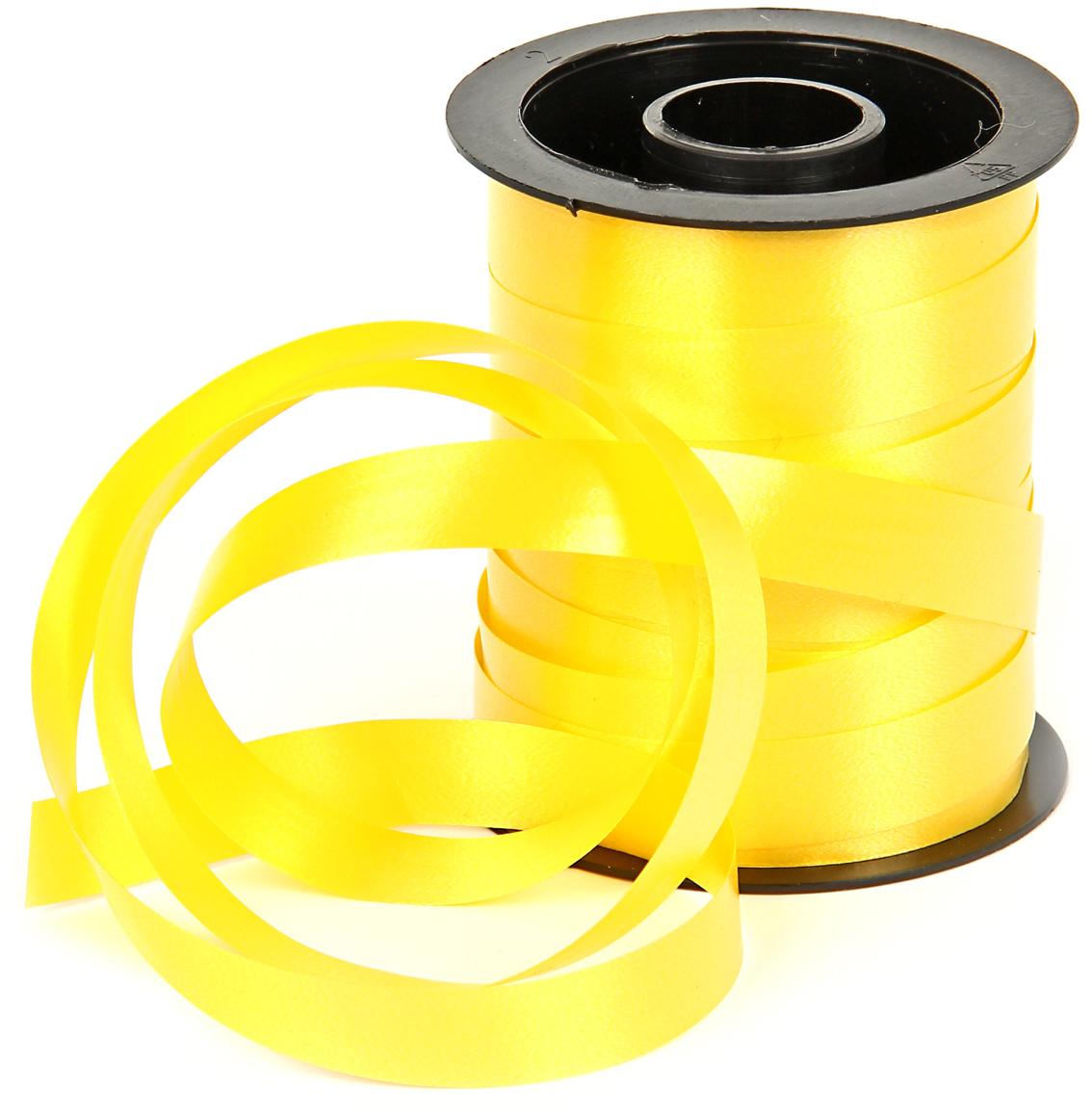 Лента декоративная Veld-Co, цвет: желтый, 1 см х 10 м набор подарочных коробок veld co грезы путешественника 11 шт