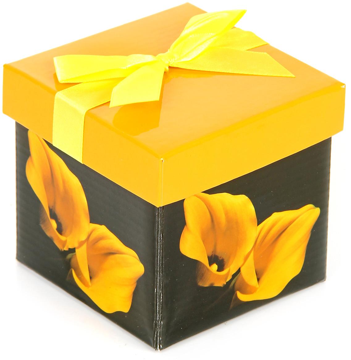 Коробка подарочная Veld-Co Giftbox. Трансформер. Яркость, цвет: черный, 10,3 х 10,3 х 9,8 см коробка подарочная veld co свадебный бабочки цвет слоновая кость 18 х 18 х 26 см