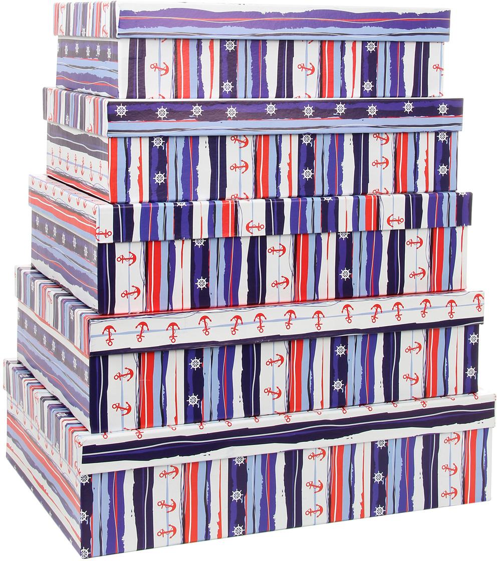 Набор подарочных коробок Veld-Co Морская тематика 2, прямоугольные, 5 шт набор подарочных коробок veld co морская тематика прямоугольные 5 шт