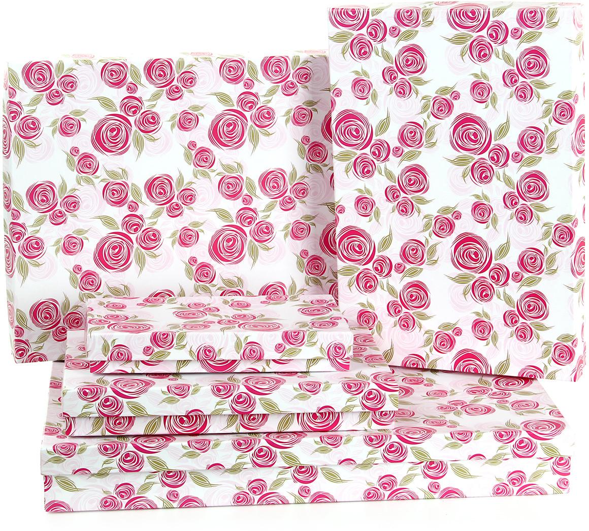 Набор подарочных коробок Veld-Co Розовая графика, 5 шт. 59519 набор подарочных коробок veld co морская тематика прямоугольные 5 шт