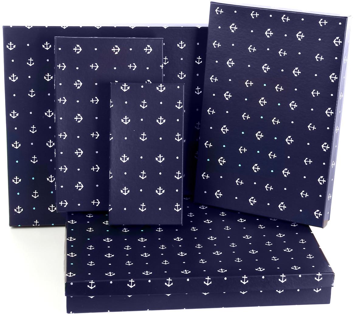 Набор подарочных коробок Veld-Co Отдать якоря, 5 шт. 59520 набор подарочных коробок veld co морская тематика прямоугольные 5 шт
