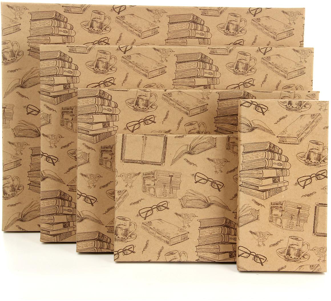 Набор подарочных коробок Veld-Co Книжный мир, 5 шт. 59521 набор подарочных коробок veld co морская тематика прямоугольные 5 шт