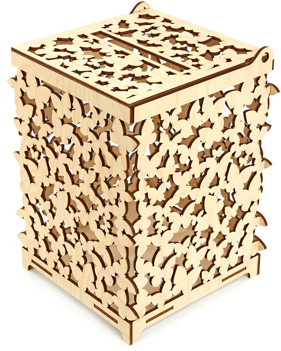 Коробка подарочная Veld-Co Свадебный. Бабочки, цвет: слоновая кость, 18 х 18 х 26 см60203Подарочная коробка Veld-Co - это наилучшее решение, если выхотите порадовать ваших близких и создать праздничное настроение, ведь подарок, преподнесенный в оригинальной упаковке, всегда будет самым эффектным и запоминающимся. Окружите близких людей вниманием и заботой, вручив презент в нарядном, праздничном оформлении.
