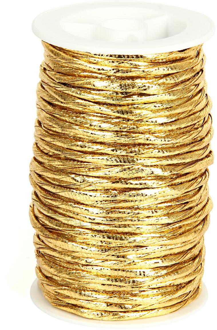 Шнур декоративный Veld-Co, цвет: золотой, 3 мм х 20 м набор декоративных лент veld co парча металл 1 6 см х 3 м 30 шт