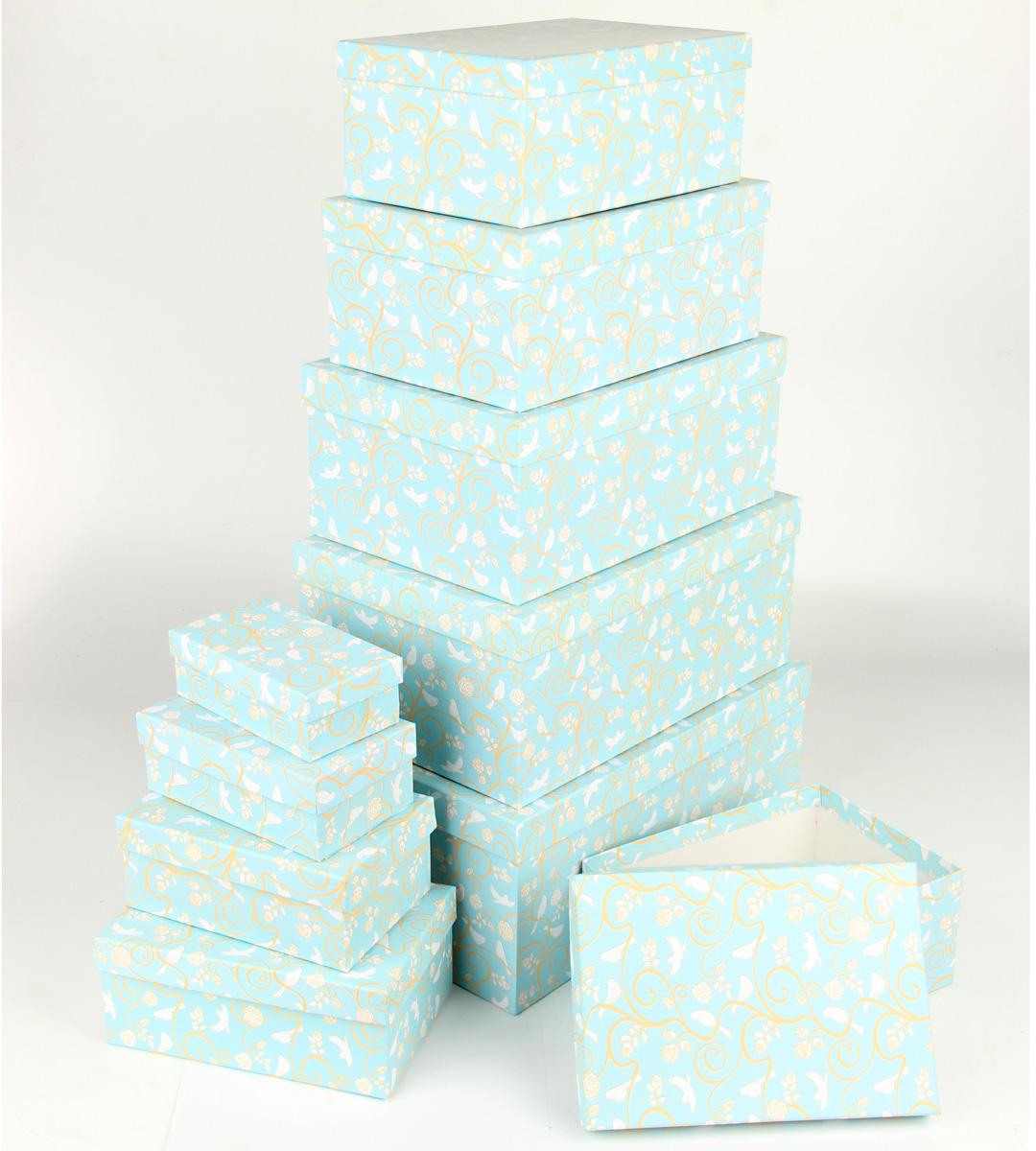 Набор подарочных коробок Veld-Co Небесные музыканты, прямоугольные, 10 шт67655Подарочные коробки Veld-Co - это наилучшее решение, если выхотите порадовать ваших близких и создать праздничное настроение, ведь подарок, преподнесенный в оригинальной упаковке, всегда будет самым эффектным и запоминающимся. Окружите близких людей вниманием и заботой, вручив презент в нарядном, праздничном оформлении.