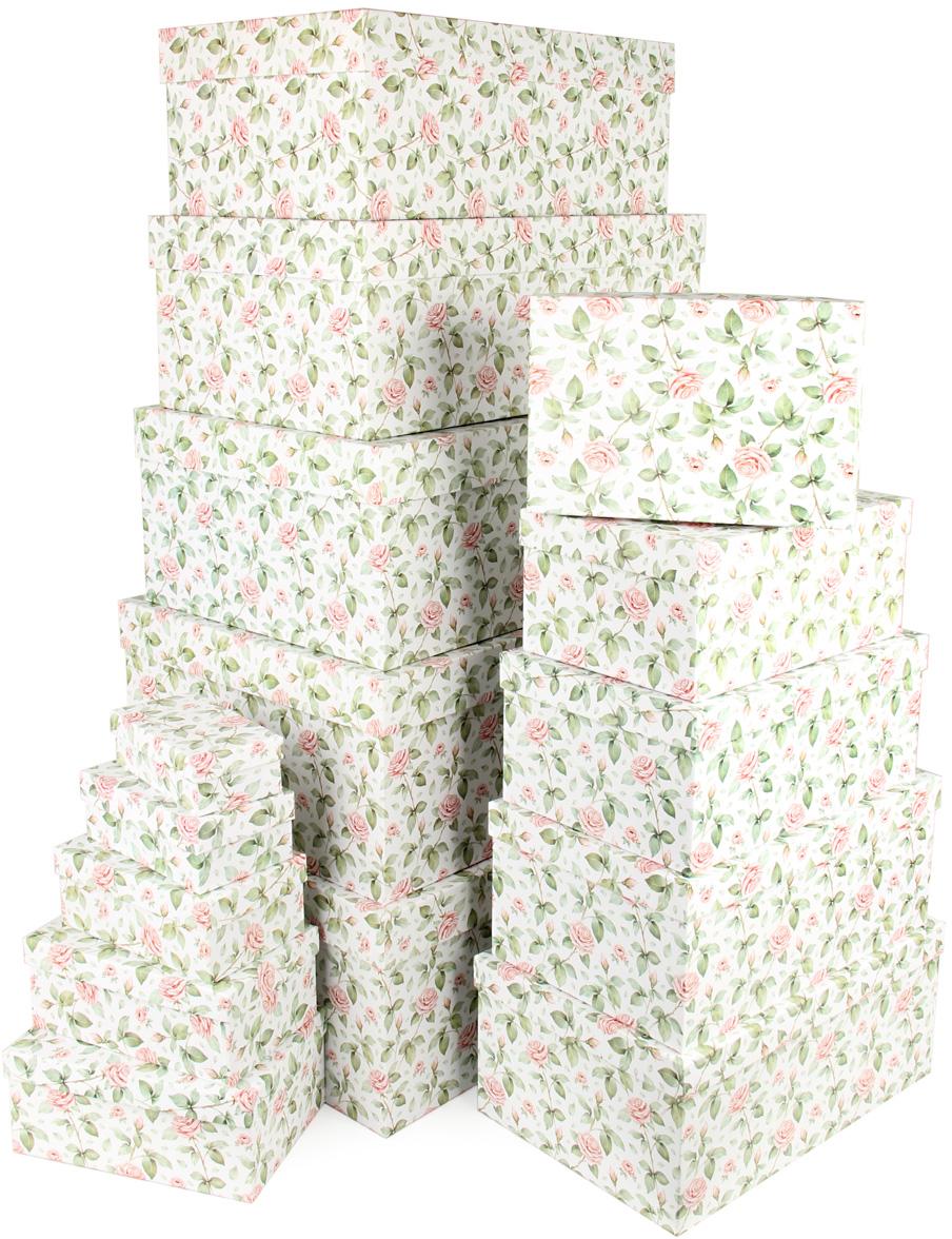 Набор подарочных коробок Veld-Co Чайные розы, 15 шт67667Подарочные коробки Veld-Co - это наилучшее решение, если выхотите порадовать ваших близких и создать праздничное настроение, ведь подарок, преподнесенный в оригинальной упаковке, всегда будет самым эффектным и запоминающимся. Окружите близких людей вниманием и заботой, вручив презент в нарядном, праздничном оформлении.