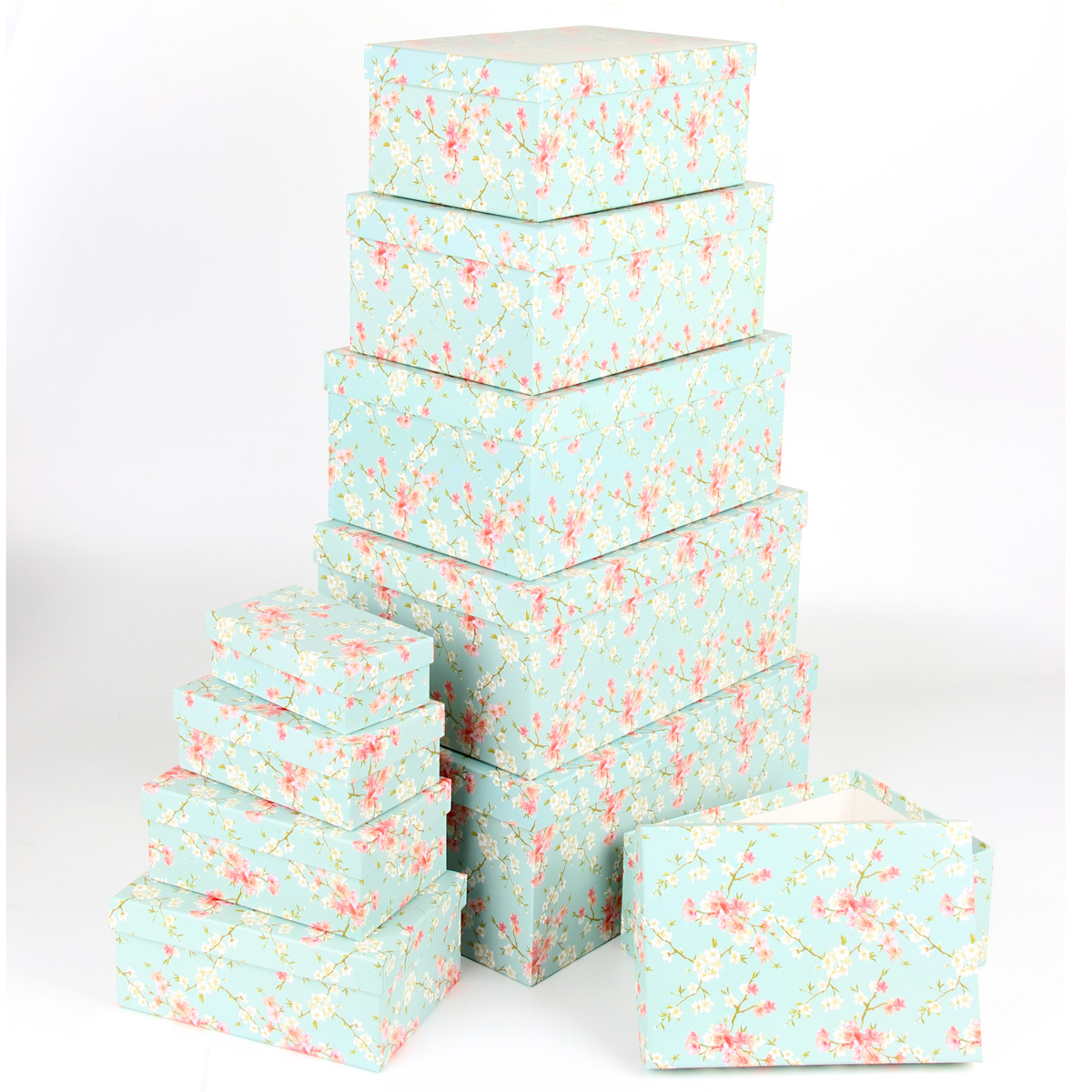 Набор подарочных коробок Veld-Co Цветение дикой сливы, прямоугольные, 10 шт набор подарочных коробок veld co цветение дикой сливы круглые 5 шт 67674
