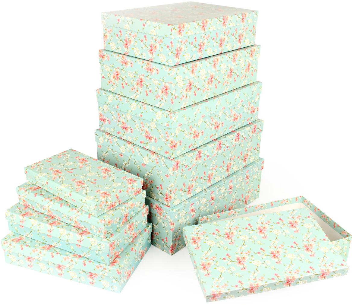 Набор подарочных коробок Veld-Co Цветение дикой сливы, 10 шт набор подарочных коробок veld co цветочная абстракция кубы 3 шт 53452