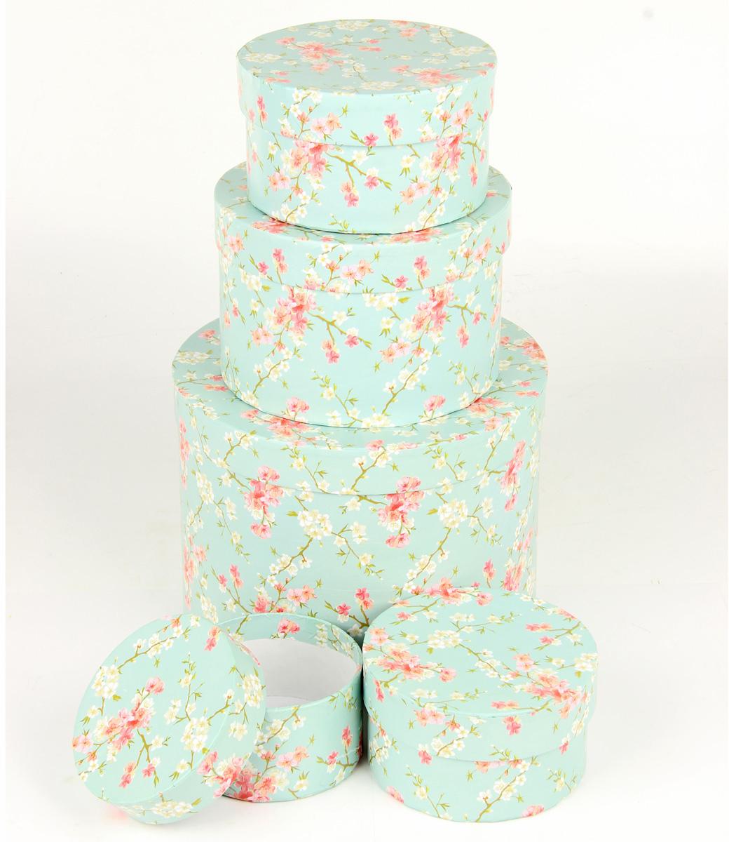 Набор подарочных коробок Veld-Co Цветение дикой сливы, круглые, 5 шт. 67674 набор подарочных коробок veld co небесные музыканты круглые 4 шт