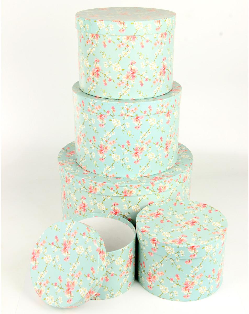 Набор подарочных коробок Veld-Co Цветение дикой сливы, круглые, 5 шт набор подарочных коробок veld co миром правит доброта 15 шт