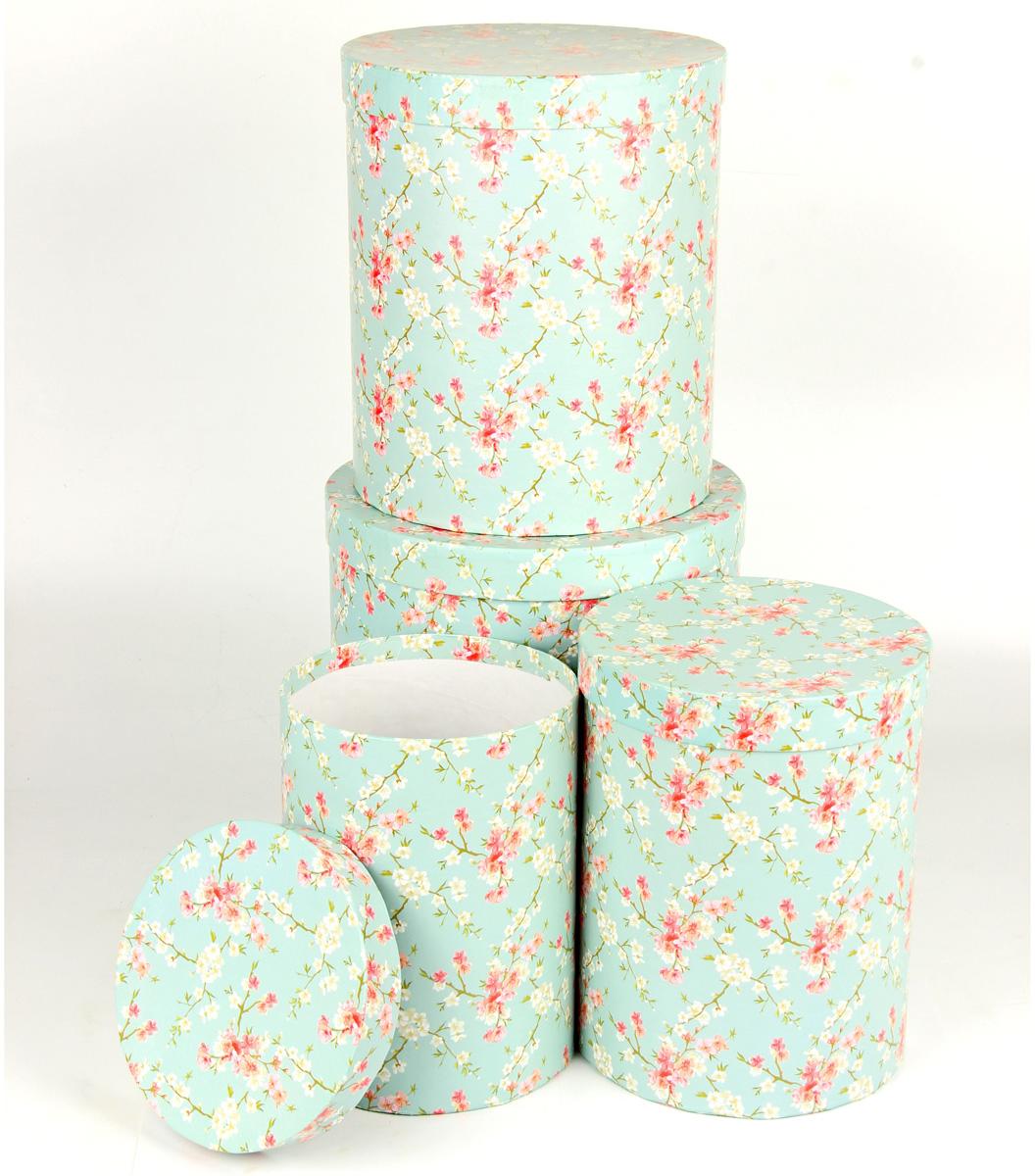 Набор подарочных коробок Veld-Co Цветение дикой сливы, круглые, 4 шт набор подарочных коробок veld co цветение дикой сливы круглые 5 шт 67674