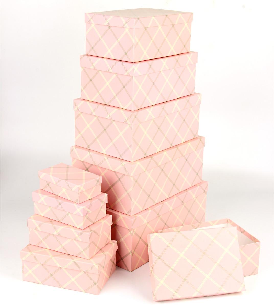 Набор подарочных коробок Veld-Co Розовый кашемир, прямоугольные, 10 шт набор подарочных коробок veld co морская тематика прямоугольные 5 шт