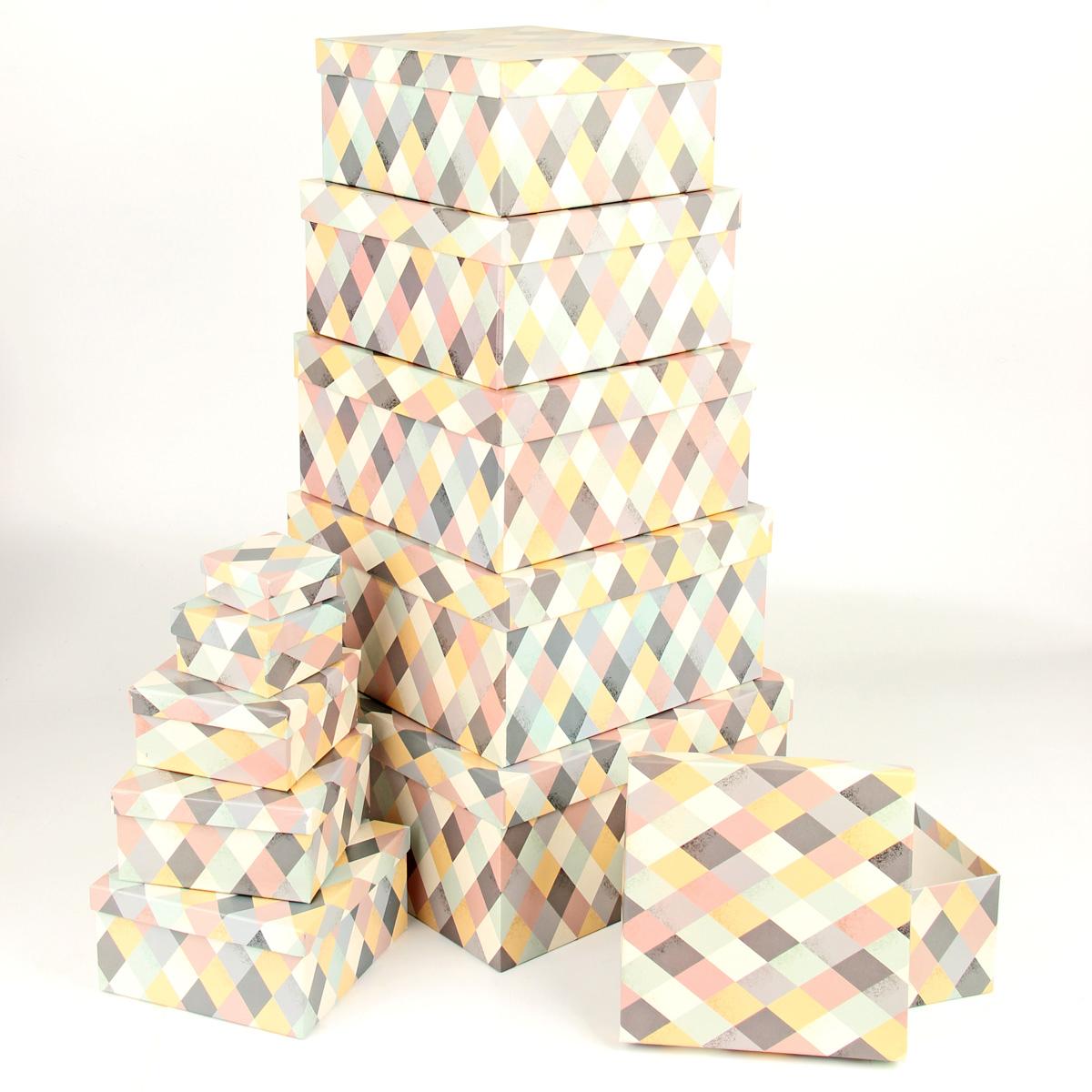 Набор подарочных коробок Veld-Co Пастельная мозаика, 11 шт набор подарочных коробок veld co миром правит доброта 15 шт