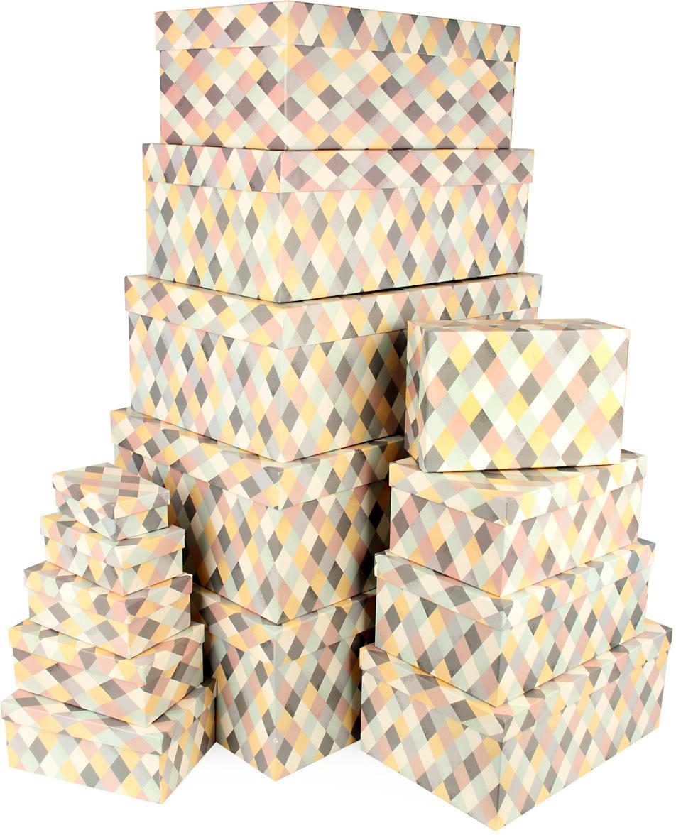 Набор подарочных коробок Veld-Co Пастельная мозаика, 15 шт набор подарочных коробок veld co мишки малышки 4 шт