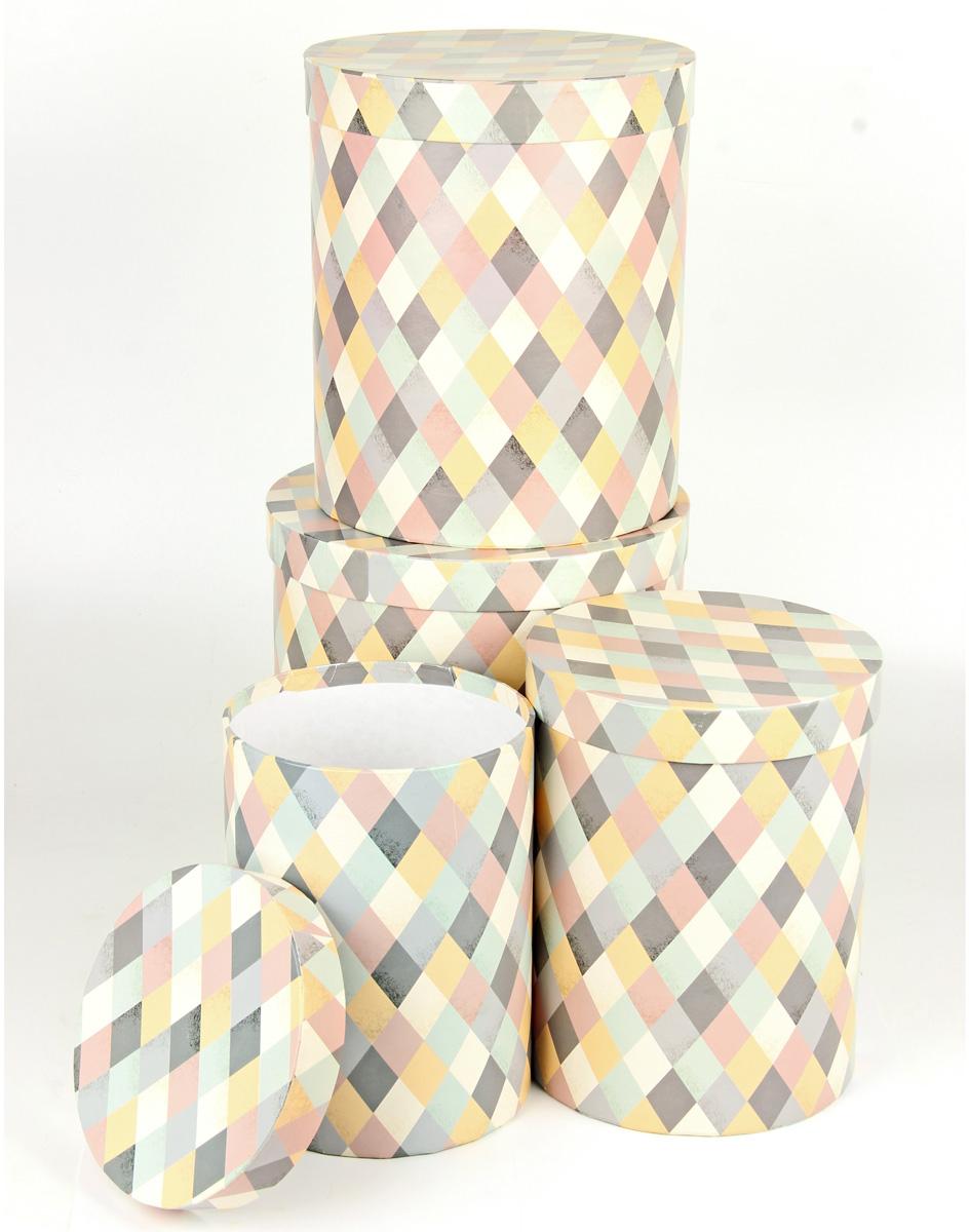 Набор подарочных коробок Veld-Co Пастельная мозаика, круглые, 4 шт набор подарочных коробок veld co небесные музыканты круглые 4 шт