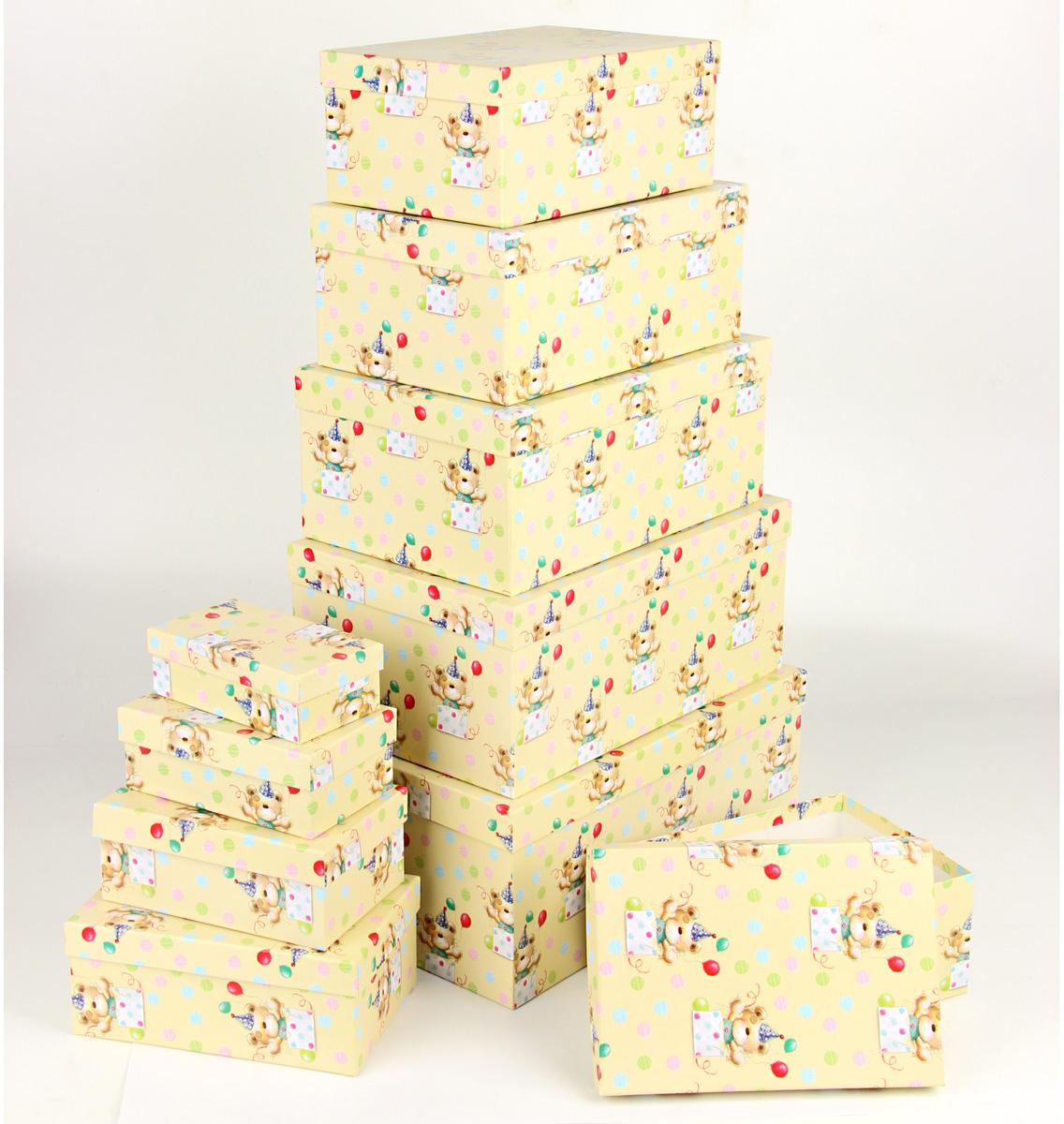 Набор подарочных коробок Veld-Co С днем варенья, прямоугольные, 10 шт набор подарочных коробок veld co шоколад с магнитами цвет светло коричневый 3 шт