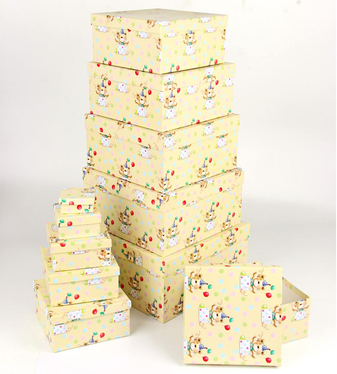 Набор подарочных коробок Veld-Co С днем варенья, 11 шт67696Подарочные коробки Veld-Co - это наилучшее решение, если выхотите порадовать ваших близких и создать праздничное настроение, ведь подарок, преподнесенный в оригинальной упаковке, всегда будет самым эффектным и запоминающимся. Окружите близких людей вниманием и заботой, вручив презент в нарядном, праздничном оформлении.