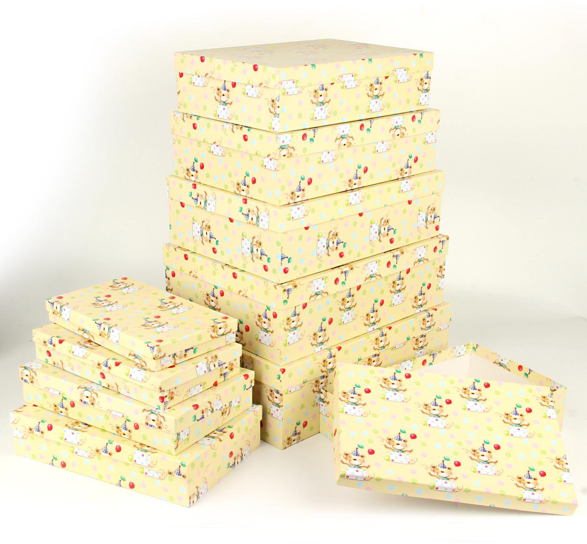 Набор подарочных коробок Veld-Co С днем варенья, 10 шт набор подарочных коробок veld co шоколад с магнитами цвет светло коричневый 3 шт