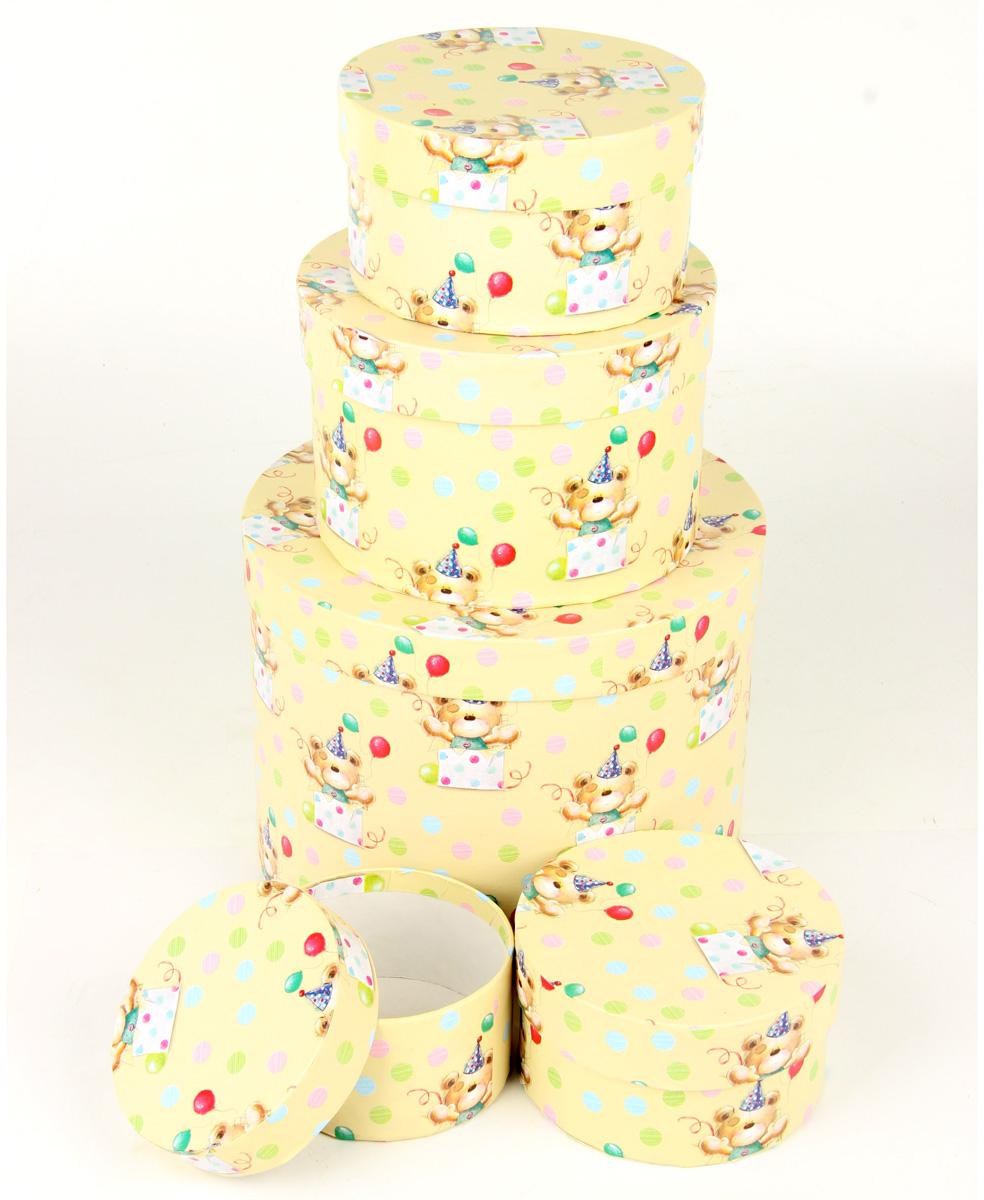 Набор подарочных коробок Veld-Co С днем варенья, круглые, 5 шт. 67698 набор подарочных коробок veld co цветение дикой сливы круглые 5 шт 67674