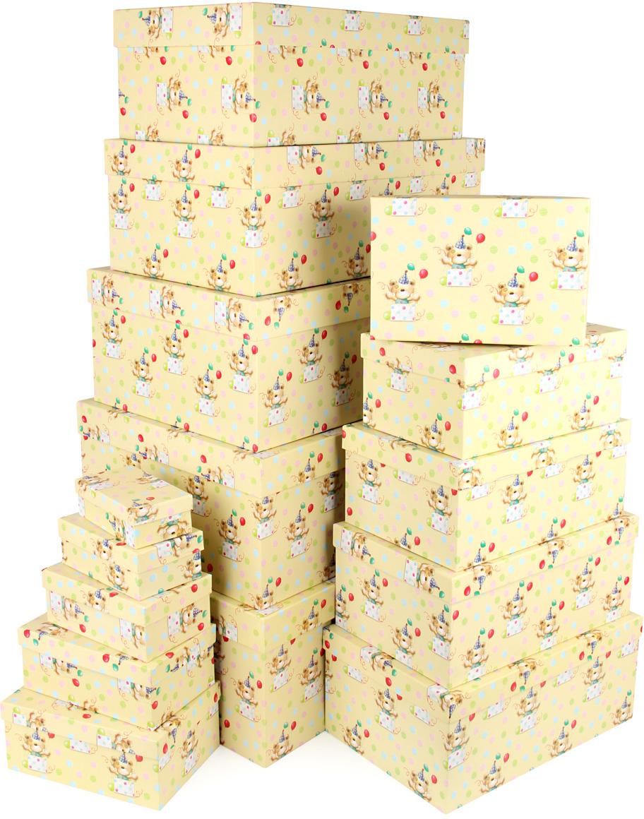 Набор подарочных коробок Veld-Co С днем варенья, 15 шт набор подарочных коробок veld co шоколад с магнитами цвет светло коричневый 3 шт