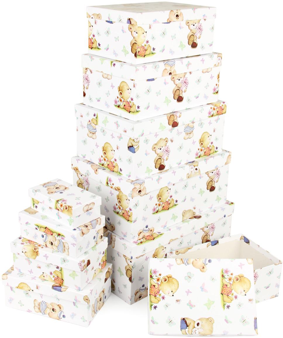 Набор подарочных коробок Veld-Co Миром правит доброта, прямоугольные, 10 шт67703Подарочные коробки Veld-Co - это наилучшее решение, если выхотите порадовать ваших близких и создать праздничное настроение, ведь подарок, преподнесенный в оригинальной упаковке, всегда будет самым эффектным и запоминающимся. Окружите близких людей вниманием и заботой, вручив презент в нарядном, праздничном оформлении.