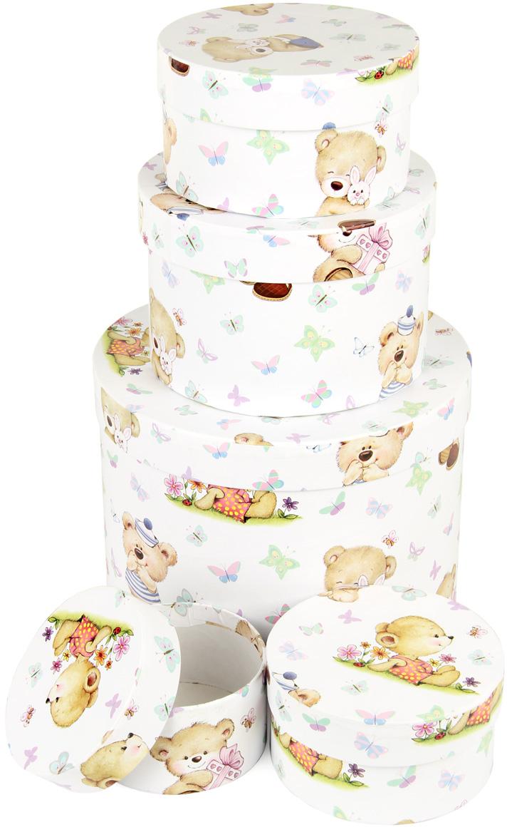 Набор подарочных коробок Veld-Co Миром правит доброта, круглые, 5 шт. 67706 набор подарочных коробок veld co цветение дикой сливы круглые 5 шт 67674