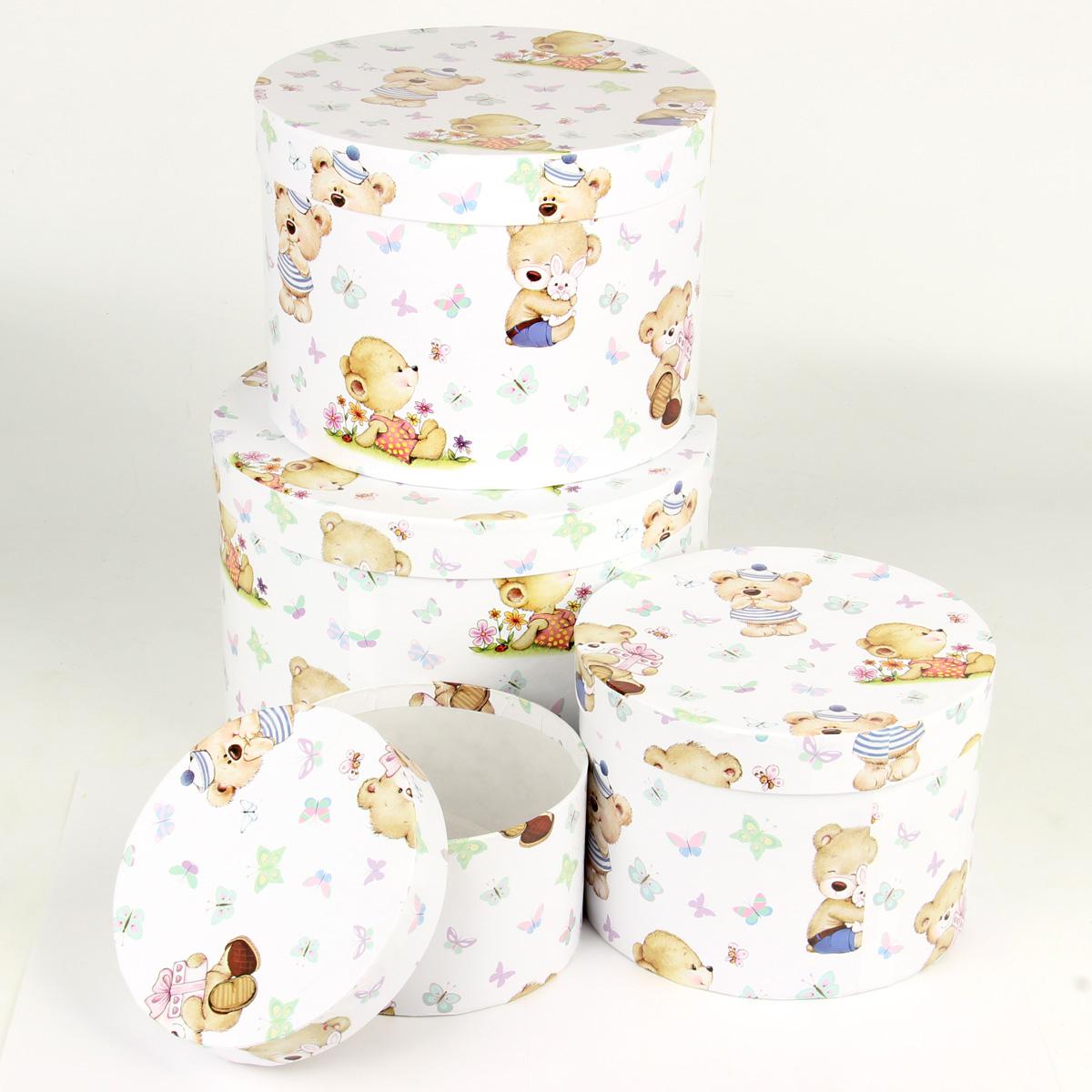 Набор подарочных коробок Veld-Co Миром правит доброта, круглые, 4 шт. 67708 набор подарочных коробок veld co грезы путешественника 11 шт
