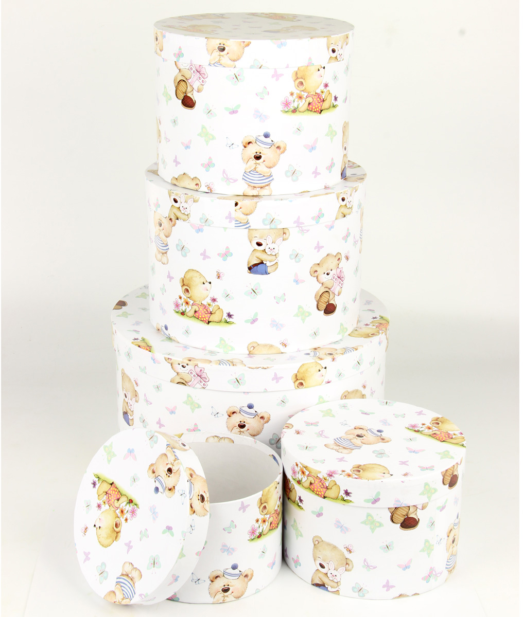 Набор подарочных коробок Veld-Co Миром правит доброта, круглые, 5 шт набор подарочных коробок veld co миром правит доброта 15 шт