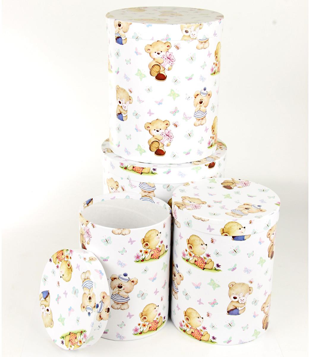 Набор подарочных коробок Veld-Co Миром правит доброта, круглые, 4 шт набор подарочных коробок veld co миром правит доброта 15 шт