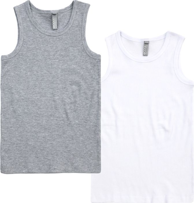 Майка для мальчиков S'cool, цвет: белый, серый. 383452. Размер 164 майки