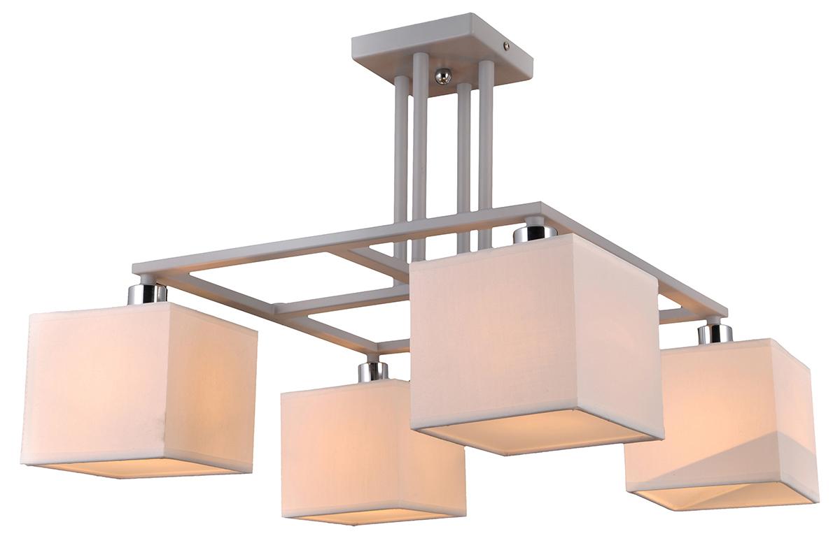 Люстра Natali Kovaltseva, 4 х E14, 40W. ALTO 75009/4C WHITEALTO 75009/4C WHITEСтиль модерн характеризуется изогнутыми, несимметричными и грациозными линиями. Очень стильно данные светильники смотрятся в интерьере, в основе которых лежат нестандартные решения.Если Вы любитель всего оригинального, нового, неизбитого, то светильники коллекции Natali Kovaltseva направления МОДЕРН – это Ваш выбор! Размеры: D48 x 38 cm