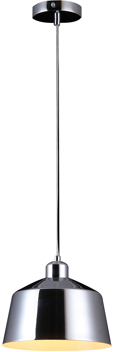 Потолочный светильник-подвесNatali Kovaltseva Модерн, 1 х E27, 40W. LOFT LUX 77000-1P CHROMELOFT LUX 77000-1P CHROMEСтиль модерн характеризуется изогнутыми, несимметричными и грациозными линиями. Очень стильно данные светильники смотрятся в интерьере, в основе которых лежат нестандартные решения.Если Вы любитель всего оригинального, нового, неизбитого, то светильники коллекции Natali Kovaltseva направления МОДЕРН – это Ваш выбор! Размеры: D27 x H120 cm