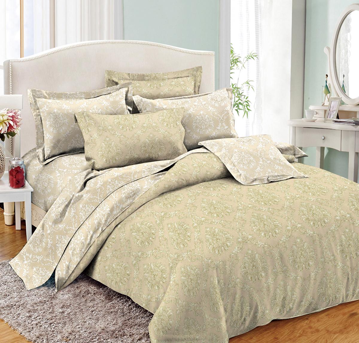 Комплект белья Cleo Сolor Empire, 2-спальный, наволочки 70х70, цвет: светло-бежевый tore brinck green energetic materials
