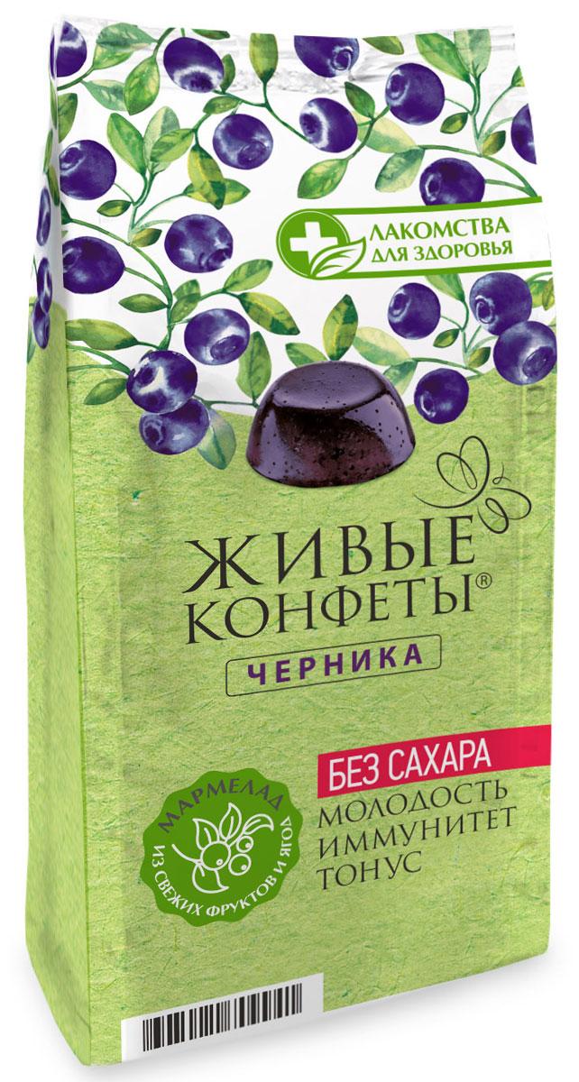 Лакомства для здоровья Мармелад желейный с черникой, 170 г лакомства для здоровья шоколад горький с кунжутом 100г